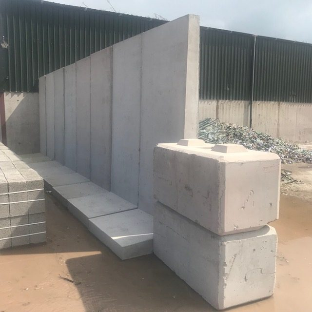 Interlocking Concrete T-Walls